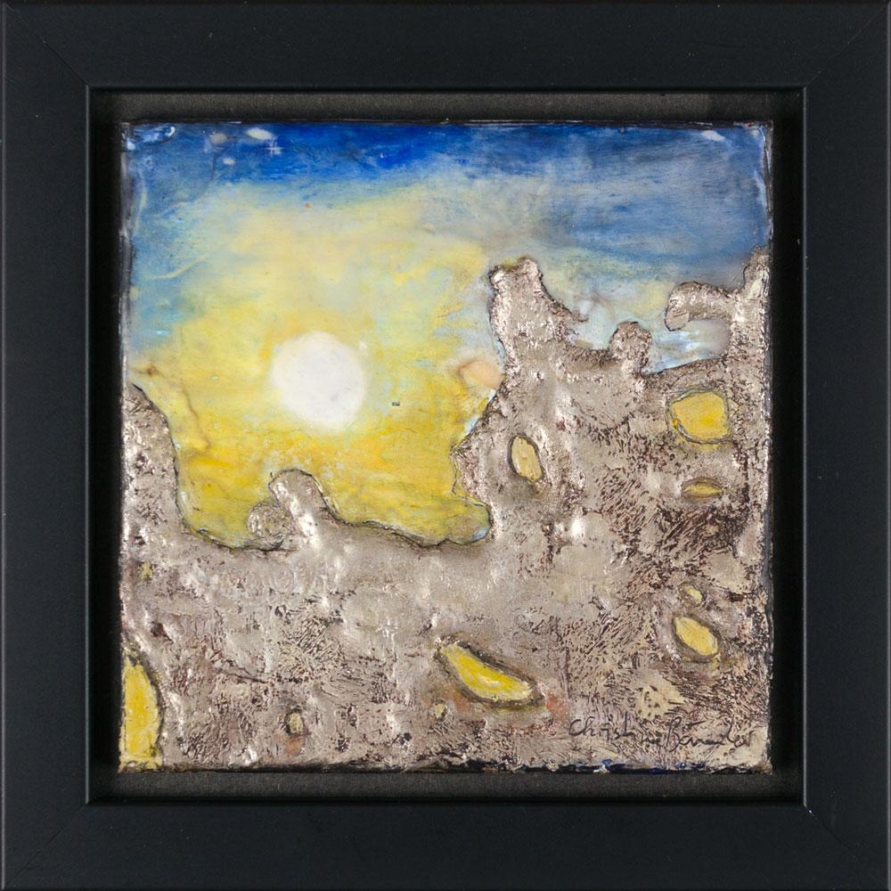 Sonne hinterm Eis